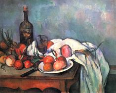 Still Life with Red Onions - Paul Cezanne