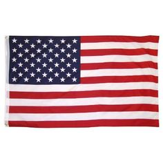 Online Stores Printed Polyester US Flag with Grommets, 3 by 5-Feet by Online Stores. $4.64. Use indoors or outdoors. Very attractive. Header and grommets. These printed polyester US flags are great value. These flags are very attractive and are printed on a silky looking polyester fabric. Great for use outdoors or indoor. At this price why not get several? This US flag has a strong nylon header and brass grommets. This flag is suitable for residential display use outdoors.