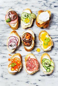 Variety of crostini by Claudia Totir on 500px