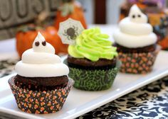 Ghoulishly Glow-In-The-Dark Cupcakes  -- Recipe for frosting