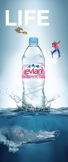 Evian- life campaign face -01 & 02 on Behance