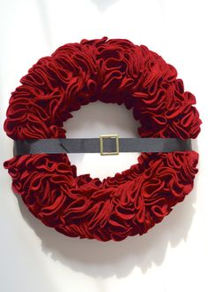 Ruffle Santa Wreath