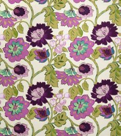 Shop Home Decor Print Fabric-Eaton Square Chamberlin-Mulberry Floral & Print Fabric at Joann.com