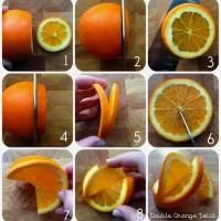 How to make a fancy double orange twist garnish