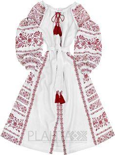 """Довга біла сукня з вишивкою """"Таємне Бажання"""""""