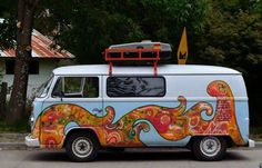 Our road trip vehicle: VW bus