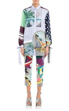 Mix Pattern Shirt and Printed Trousers by Mary Katrantzou Pre-Fall 2018