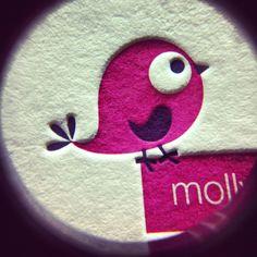 One hot #letterpress chick! #pink