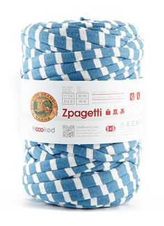 Zpagetti yarn - made of garment fabric remnants. no 2 balls are alike