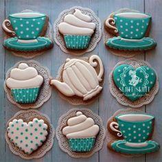 (99+) Одноклассники Teapot Cookies, Coffee Cookies, Iced Cookies, Crazy Cookies, Fun Cookies, Cupcake Cookies, Cookie Icing, Royal Icing Cookies, Mini Christmas Cakes