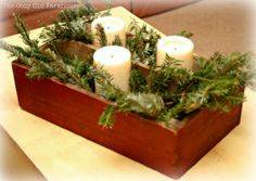 """The Cozy Old """"Farmhouse"""": Perfectly Junky Christmas Centerpiece"""
