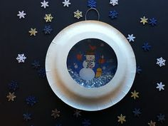 Snowball Snowglobe ~ An extremely fun craft that your child can also play with.