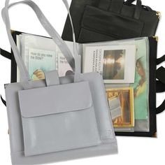 For sisters who are active in field service activity, this leatherette folder & magazine tote is a neat & professional accessory. Get it at Ministry Ideaz!