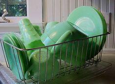 jadeite in a dish drainer