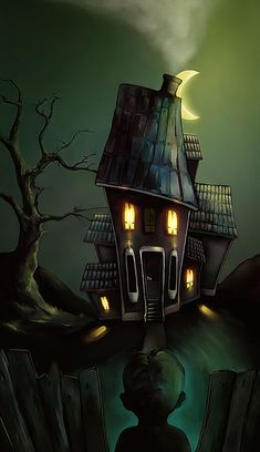 ,for Halloween- love the graphics, lighting, and interesting perspective. Reminds me of that Monster House movie