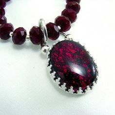 Dichroic Glass Pendant and Ruby Quartz Necklace | SecondNatureDesigns - Jewelry on ArtFire