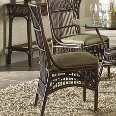 Panama Jack Bora Bora Side Chair with Cushion Upholstery: Canvas Taupe