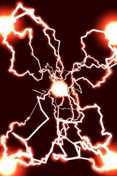 Red Vortex of Electricity