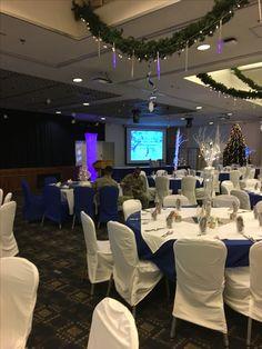 Winter Wonderland Theme Holiday Party 2016 decorations setup