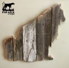 Repurposed wood made into art. Repurposed Wood, Recycled Pallets, Wood Animal, Animal Silhouette, Wood Gifts, Wall Pictures, Wall Signs, Picture Wall, Barn Wood