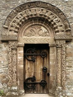 medieval:    South portal c. 1140Stone Church of St Mary and St David, Kilpeck