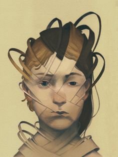 Illustration for 'Acrobatic Duality' by Tamara Vardomskaya // by Ashley Mackenzie