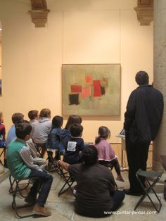Esteban Vicente: un cuadro para desmontar, un artista para degustar. Experiencia didáctica realizada el 20-10-2013 en el Museo de Bellas Artes de Asturias.