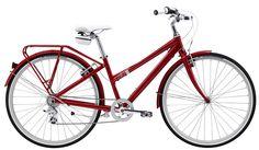 eeeek! my shiny new red bike! Felt Cafe Deluxe :)