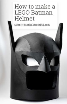 Make a child-size DIY LEGO Batman helmet or cowl out of foam from The LEGO Batman Movie - free printable pattern Lego Spiderman, Spiderman Costume, Lego Batman Movie, Batman Party, Diy Batman Costume, Crafts For Teens, Diy For Kids, Fun Crafts, Kids Fun