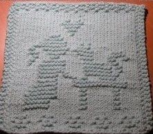 Kitty Love Dishcloth Pattern