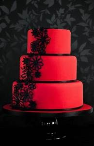 Red & black 3 tier cake | Favorite Recipes | Pinterest | Cakes, Chang'e 3 and Tier cake