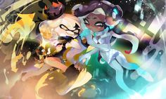 Nintendo Splatoon, Splatoon 2 Art, Splatoon Comics, Nintendo Games, Pearl And Marina, Callie And Marie, Pokemon, Fandom, Super Smash Bros