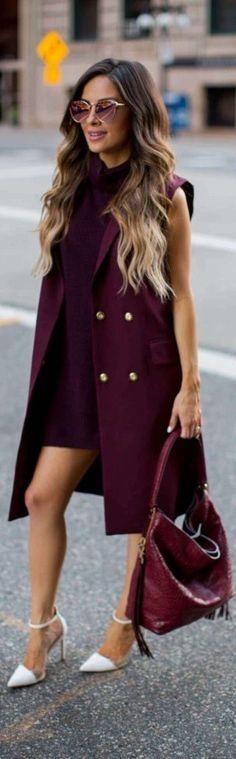 Burgundy Babe // Fashion Trend by Mia Mia Mine