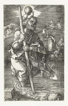Durer - St Christopher Facing to the Right	1521