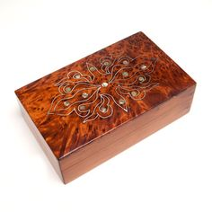 Mother-of-Pearl Inlaid Thuya Box (Morocco) to hold ugly baby wipes container$84.99+