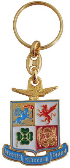 Portachiavi in metallo smaltato - Gadget ufficiale Aeronautica Militare Italiana