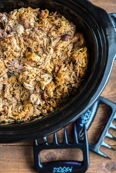 How to make The Best Slow Cooker Pulled Pork! Everyone is sure to love this amazing slow cooker pulled pork.  The perfect blend of spices make it tender and bursting with flavor!