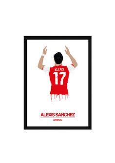 Alexis Sanchez A3 Poster: 297mmx420mm Arsenal, Ozil, Chile, Barcelona, Football, Soccer, Cazorla, Wenger, FA Cup, Walcott, Giroud, Ramsey