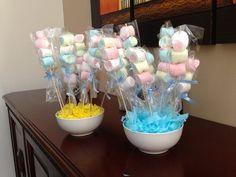 Centros de mesa con dulces para baby shower | Mesas, Baby showers ...