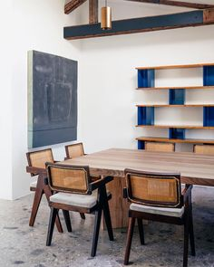 Srelle produces exclusive, hand-made furniture after the Pierre Jeanneret designs for Chandigarh, India. Pierre Jeanneret, Room Interior, Interior Design, Interior Architecture, Timber Beams, Exposed Beams, Paris Home, Terrazzo Flooring, Dining Room Inspiration