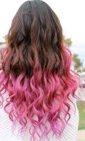 Resultado de imagen para pelo de colores en las puntas