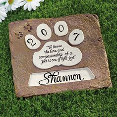 Customer Fave: Speaking of pets it has been a long year, but don't let the memory of your furry friend fade away. Forever memorialize them in one of our most popular items the Personalized Pet Memorial Stones.  Click the link and see what everyone has to say.