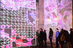 UNSTABLE's P-Cube Illuminates VDNKh Park in Moscow,Courtesy of Marcos Zotes
