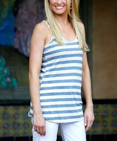 Love this Heather Blue Lindsey Tank - Women by Ava Rose Designs on #zulily! #zulilyfinds