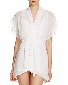 IN BLOOM BY JONQUIL CAREY CHIFFON WRAP ROBE IVORY  60 - PICK UP OR SHIPS  FREE 1626a5021