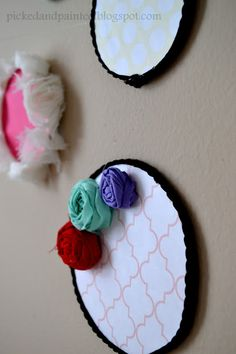 faux embroidery hoop art.
