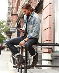 Denim on denim #mens fashion