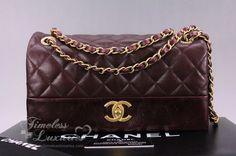 2dfc12508a17 Timeless Luxuries - CHANEL Burgundy Glazed Calfskin Soft Elegance Flap Gold  Hw