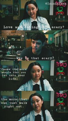 New quotes deep life felt ideas Lara Jean, Film Quotes, Book Quotes, Quotes Quotes, Qoutes, I Still Love You, My Love, Movies And Series, Scenes From Movies