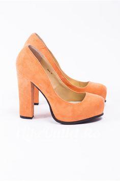 Pantofi portocalii cu toc SUGARFREE SHOES